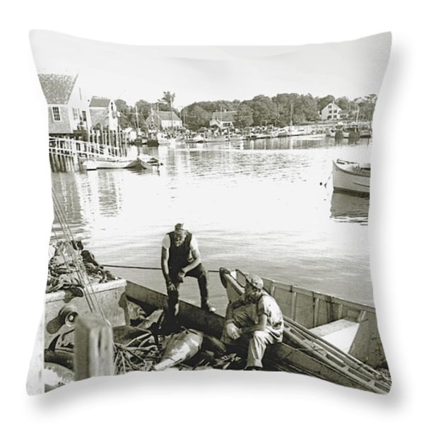 Bluefin Tuna at Barnstable Harbor Throw Pillow by Charles Harden
