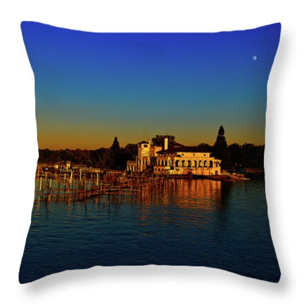 Boat Club Throw Pillow by Dave Manning