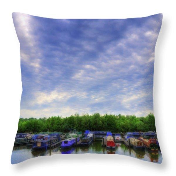 Boat Life Throw Pillow by Svetlana Sewell
