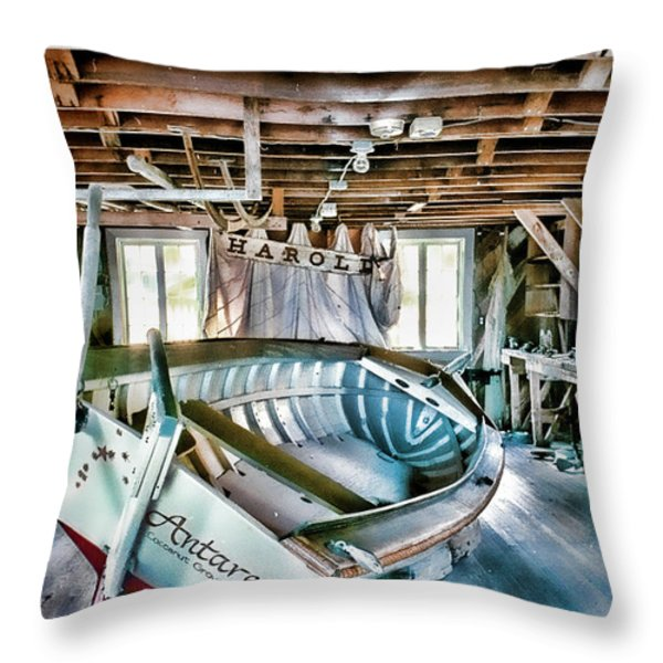 Boathouse Throw Pillow by Heather Applegate