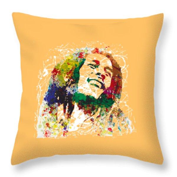 Bob Marley Throw Pillow by Gary Grayson