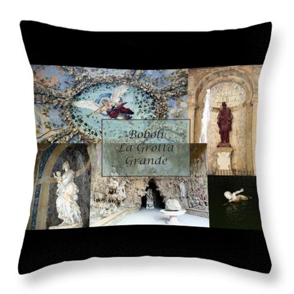 Boboli La Grotta Grande 2 Throw Pillow by Ellen Henneke
