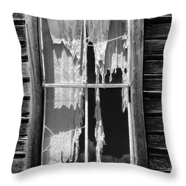 Bodie Ghost Town Throw Pillow by Sandra Bronstein