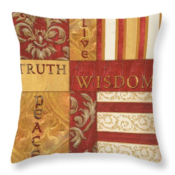 Bohemian Red Spice 2 Throw Pillow by Debbie DeWitt