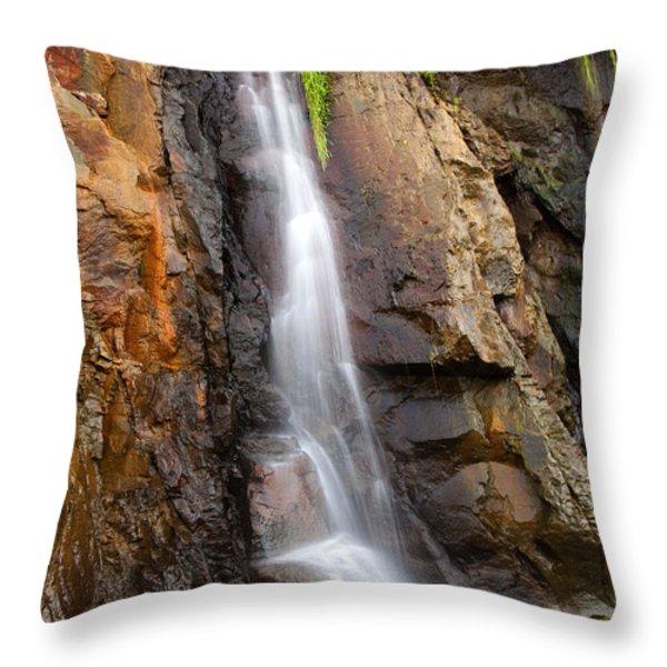 Boiler Bay Cascade Throw Pillow by Mike  Dawson