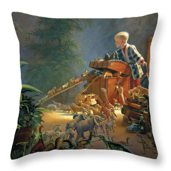 Bon Voyage Throw Pillow by Greg Olsen
