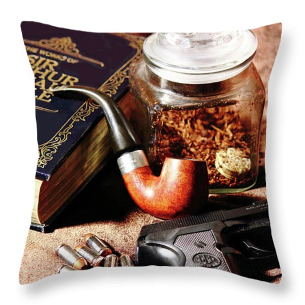 Books And Bullets Throw Pillow by Barry Jones