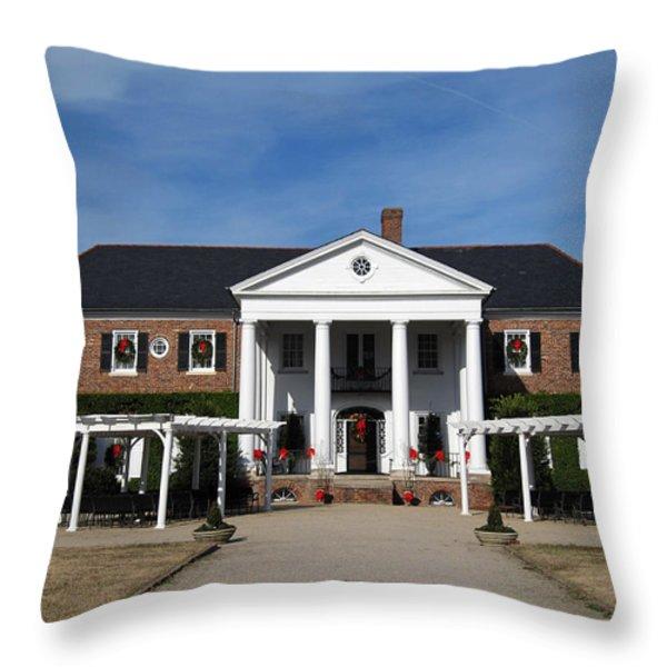 Boone Hall Plantation Charleston Sc Throw Pillow by Susanne Van Hulst