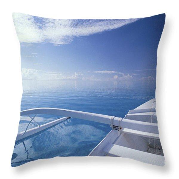 Bora Bora, Outrigger Throw Pillow by Joe Carini - Printscapes