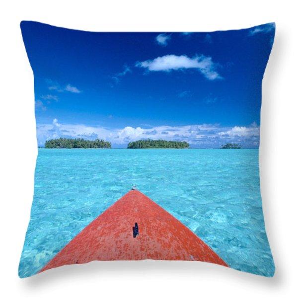 Bora Bora, View Throw Pillow by William Waterfall - Printscapes