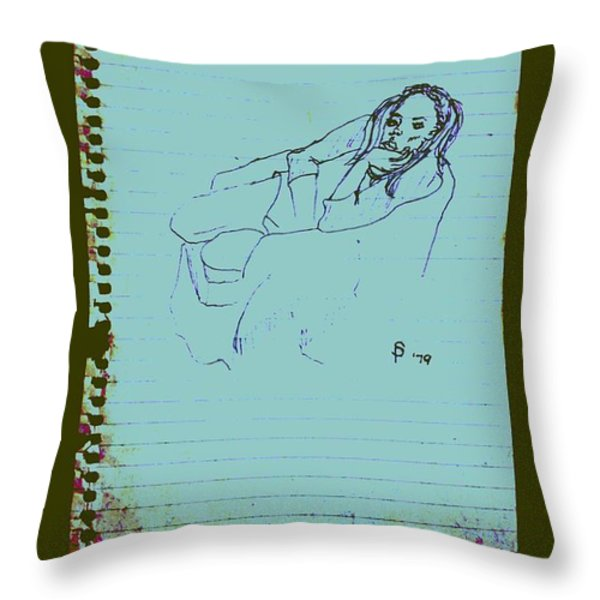 Boring Summer Break Throw Pillow by Sheri Parris