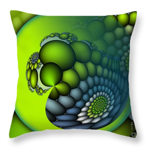 Born To Be Green Throw Pillow by Jutta Maria Pusl