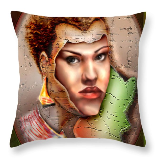Borne A Nation Throw Pillow by Reggie Duffie