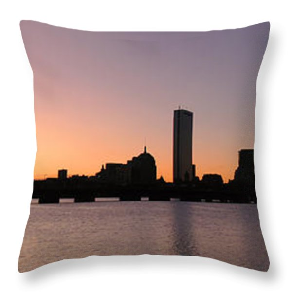 Boston Skyline Throw Pillow by Juergen Roth