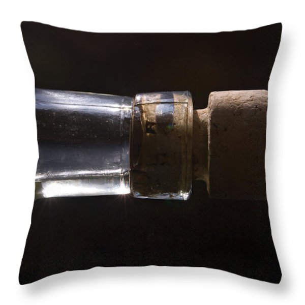 bottle and cork-1 Throw Pillow by Steve Somerville