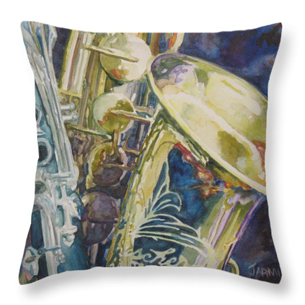 Bouquet of Reeds Throw Pillow by Jenny Armitage