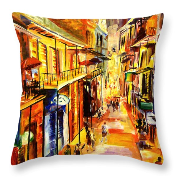 Bourbon Street Glitter Throw Pillow by Diane Millsap