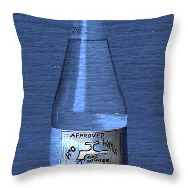 Bouteille de L'eau Throw Pillow by Andy  Mercer