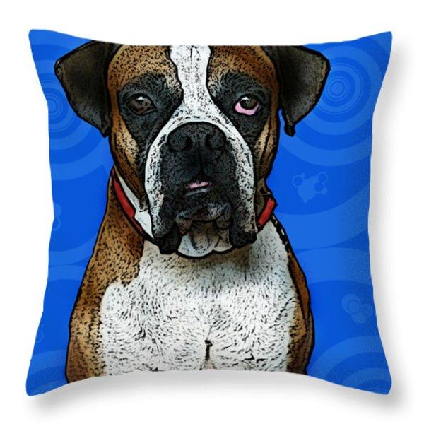 Boxer Throw Pillow by Bibi Romer