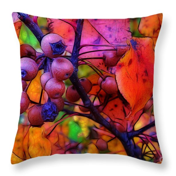 Bradford Pear in Autumn Throw Pillow by Judi Bagwell