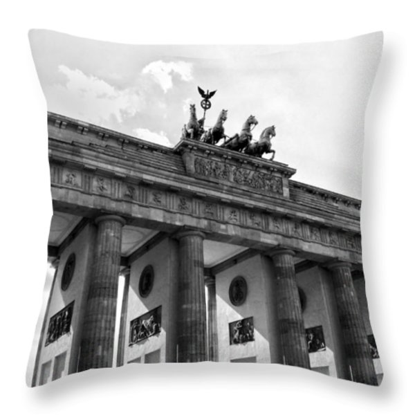 Brandenburg Gate - Berlin Throw Pillow by Juergen Weiss