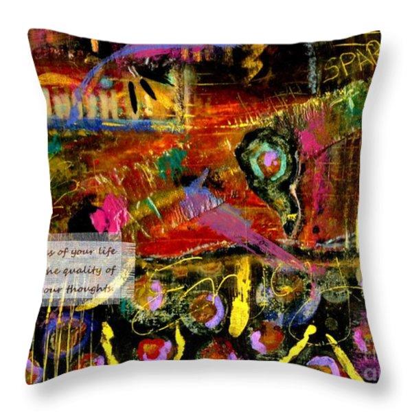Brazilian Festival Throw Pillow by Angela L Walker