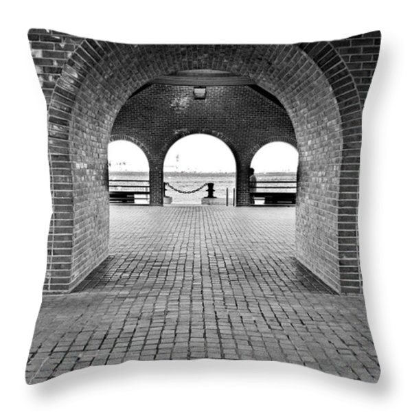 Brick Arch Throw Pillow by Greg Fortier