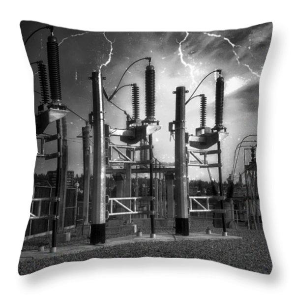 Bridge St Power Substation 2 - Spokane Washington Throw Pillow by Daniel Hagerman