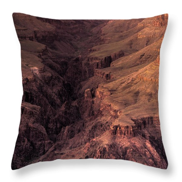 Bright Angel Canyon Grand Canyon National Park Throw Pillow by Steve Gadomski