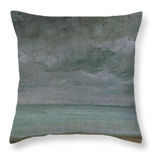 Brighton Beach Throw Pillow by John Constable