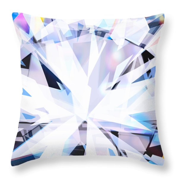 brilliant diamond  Throw Pillow by Setsiri Silapasuwanchai