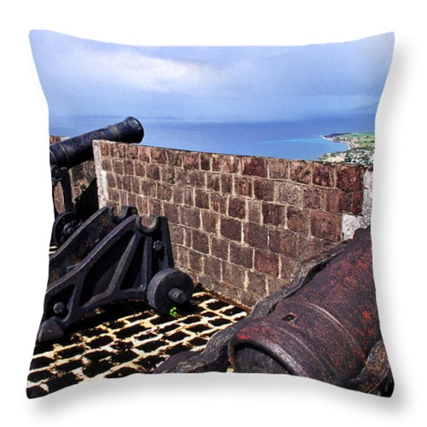 Brimstone Hill Fortress Canons Throw Pillow by Thomas R Fletcher