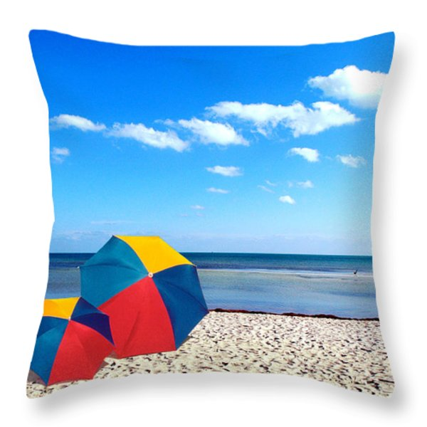 Bring The Umbrella With You Throw Pillow by Susanne Van Hulst