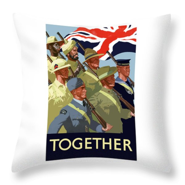 British Empire Soldiers Together Throw Pillow by War Is Hell Store