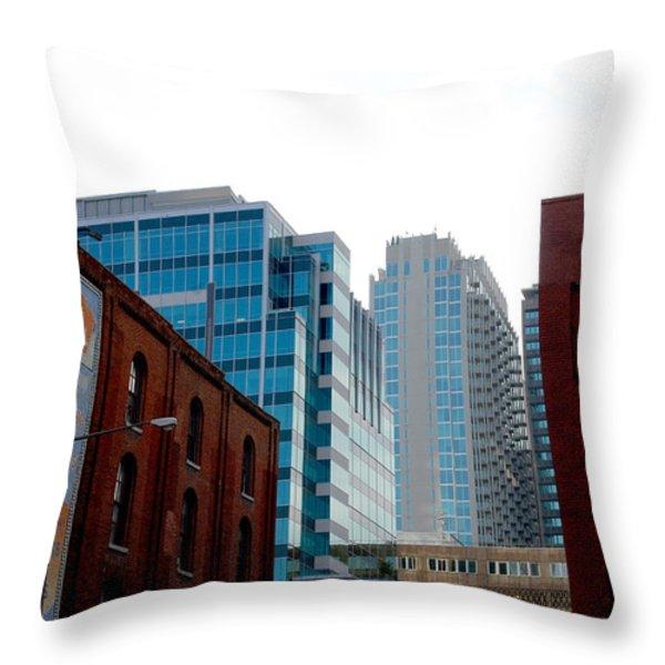 Broadway Nashville TN Throw Pillow by Susanne Van Hulst