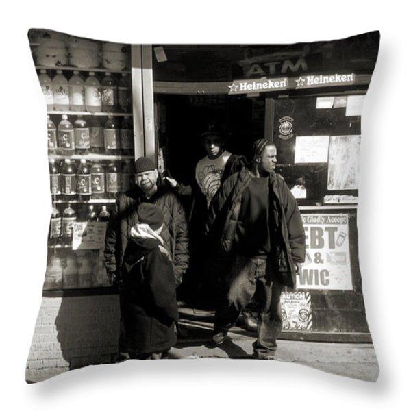 Bronx Scene Throw Pillow by RicardMN Photography