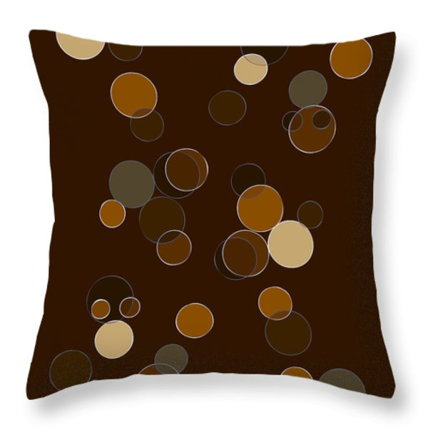 Brown Abstract Throw Pillow by Frank Tschakert