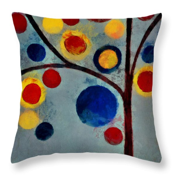Bubble Tree - Dps02c02f - Left Throw Pillow by Variance Collections