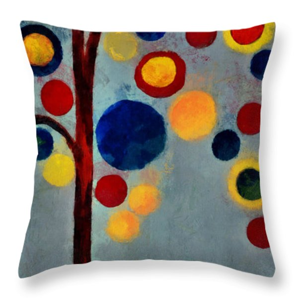 Bubble Tree - Dps02c02f - Right Throw Pillow by Variance Collections
