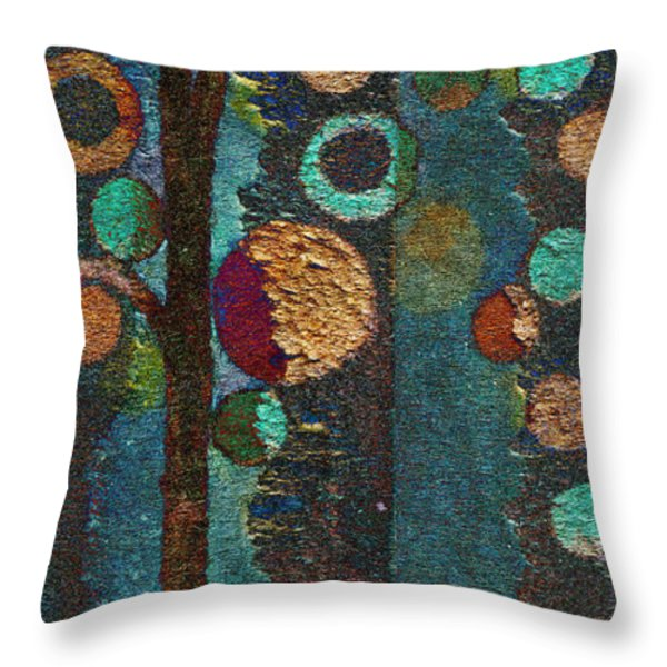Bubble Tree - spc02bt05 - Right Throw Pillow by Variance Collections