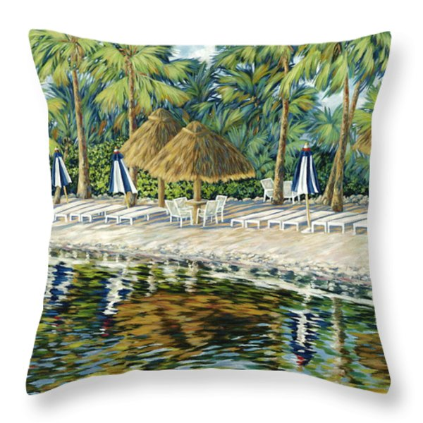 Buccaneer Island Throw Pillow by Danielle  Perry