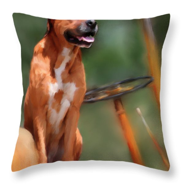 Buck Throw Pillow by Colleen Taylor