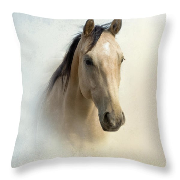 Buckskin Beauty Throw Pillow by Betty LaRue