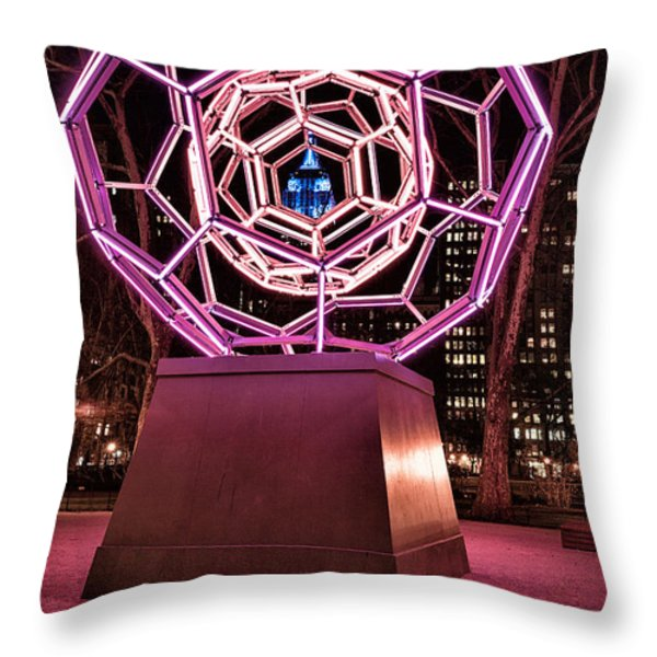bucky ball Madison square park Throw Pillow by John Farnan
