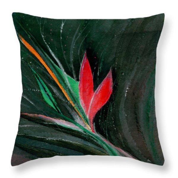 Budding Throw Pillow by Anil Nene