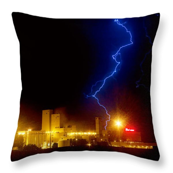 Budweiser Lightning Strike Throw Pillow by James BO  Insogna