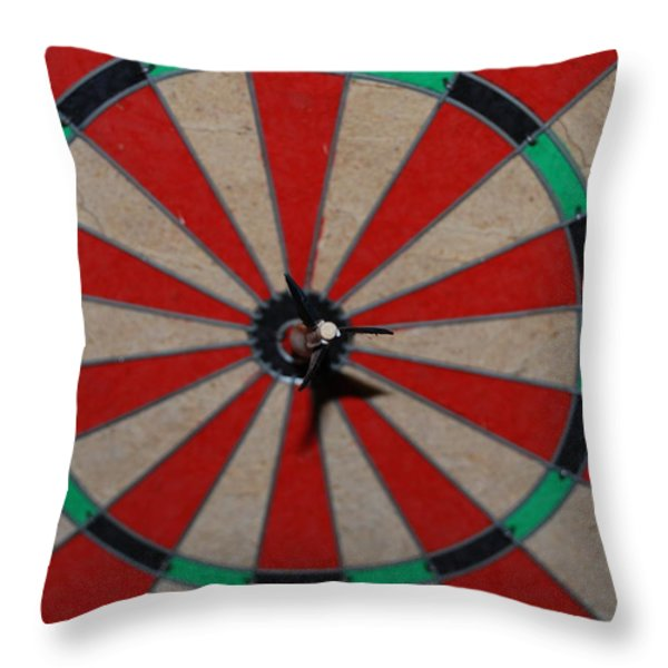 Bulls Eye Throw Pillow by Rob Hans