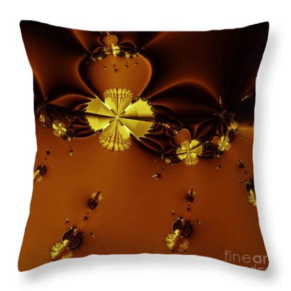 Bumble Beez Over Chocolate Lake . Square . S19 Throw Pillow by Wingsdomain Art and Photography
