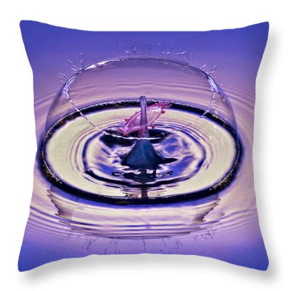 Bursting My Bubble Throw Pillow by Susan Candelario
