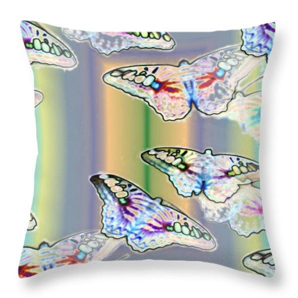Butterflies In The Vortex Throw Pillow by Tim Allen